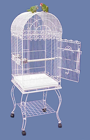 Hana Hut Dometop Small Bird Cage With Stand