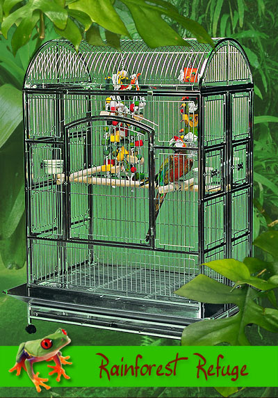 Rainforest Refuge Stainless Steel Bird Cage