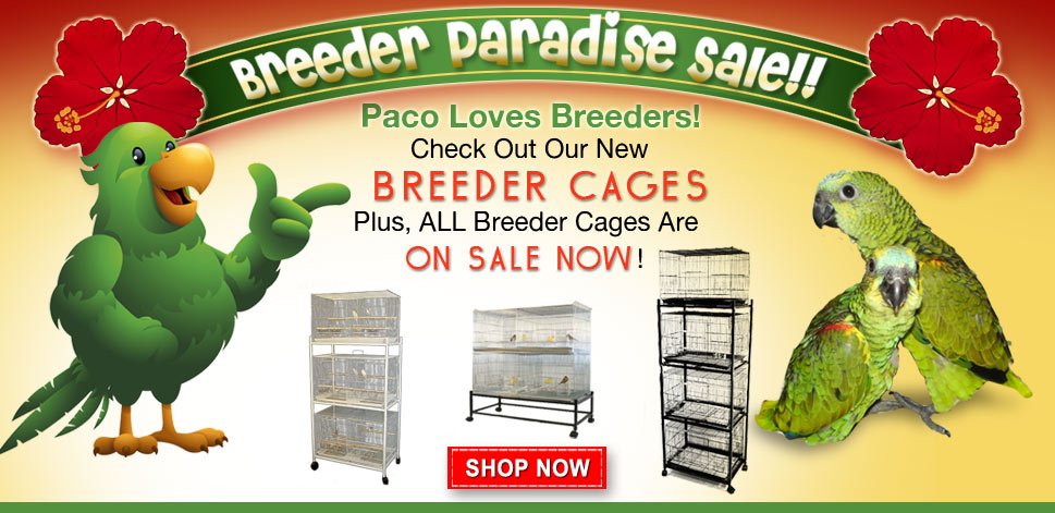Check out sales at birdcages4less!